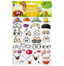 "Sticker ""Freche Eierköpfe"""
