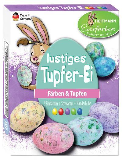 Lustiges Tupfer-Ei
