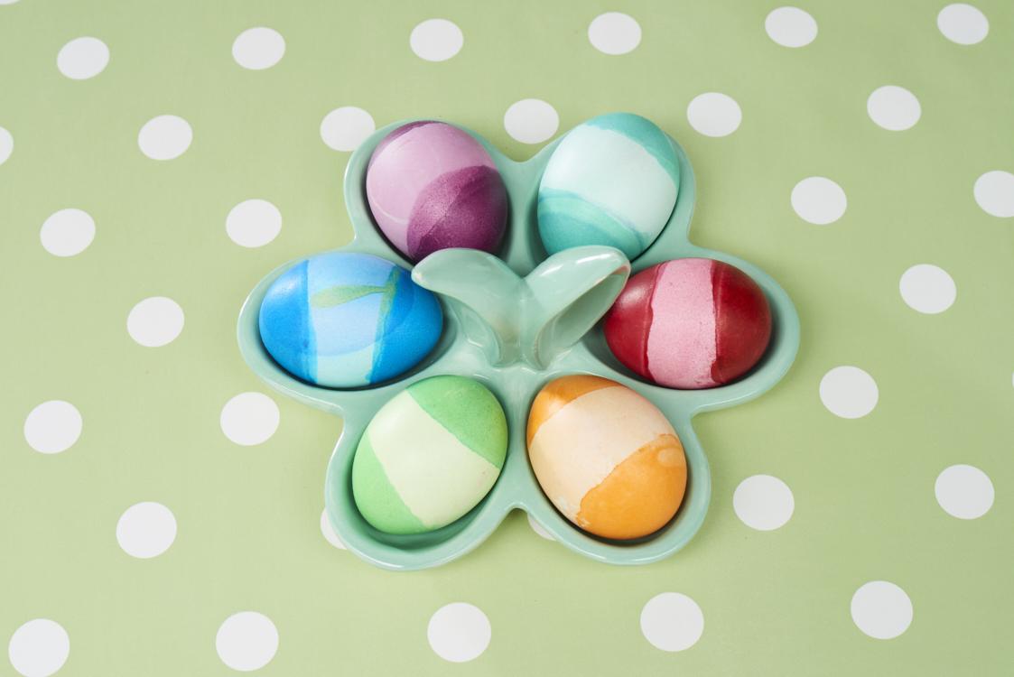 Ralleystreifen für bunte Eier