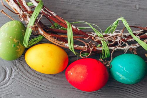 Dekorativer Eierkranz