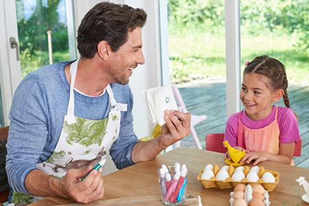Eier gestalten mit Glanzmalern